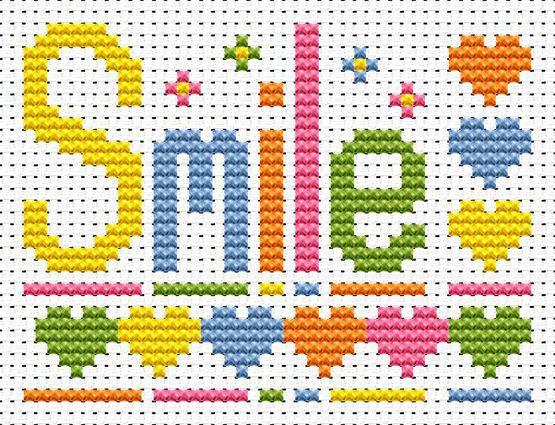 Sew Simple Smile Cross Stitch Kit £8.95 | Past Impressions | Fat Cat Cross Stitch