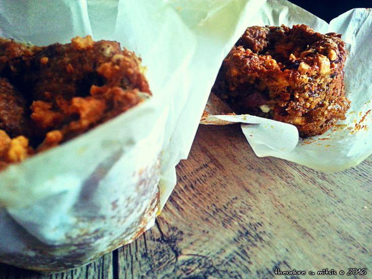 χωριάτικα αλμυρά  muffins με φακές, Γιαννιώτικο γαλοτύρι