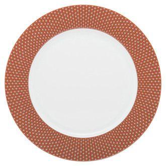 Assiette plate en porcelaine tomette 27.5 cm - Lot de 6 ROMY EN COULEUR GREIGE