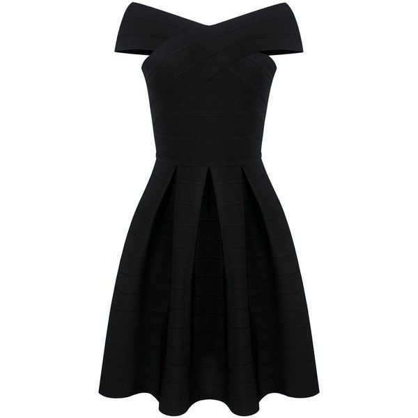 Honey couture tayla black off shoulder midi bandage dress ($179) ❤ liked on Polyvore featuring dresses, off-shoulder dresses, bandage midi dress, sexy dresses, off the shoulder cocktail dress and holiday cocktail dresses