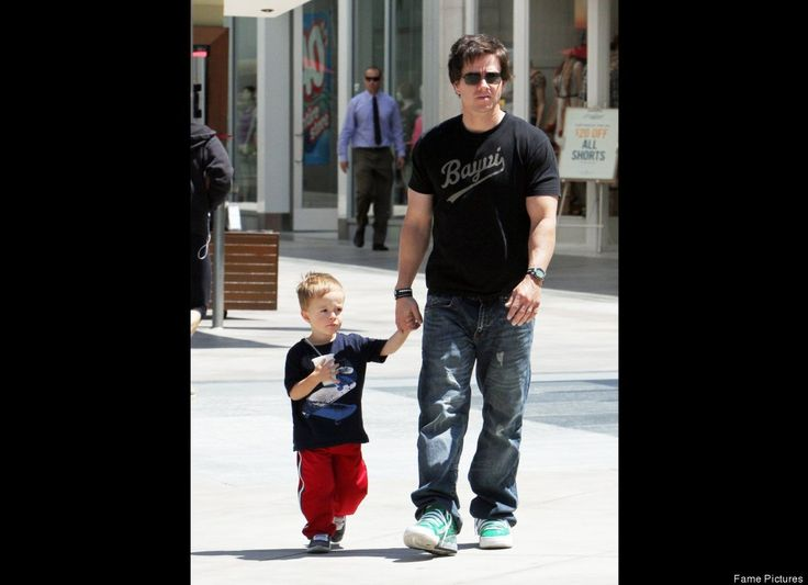Mark Wahlberg and wife Rhea Durham take little Michael Wahlberg out shopping in Los Angeles.