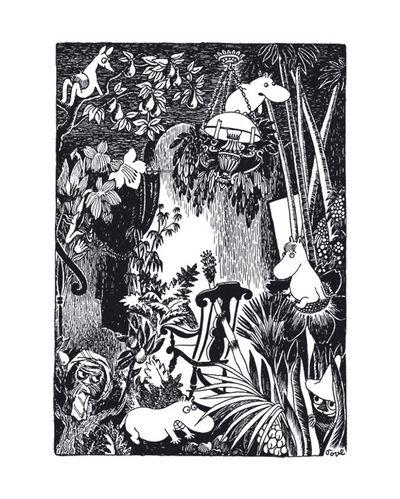 Muumi juliste Keinutuoli metsässä | Moomins | Pinterest | Juliste