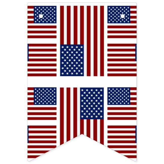 American Flag Bunting Banner Zazzle Com In 2020 American Flag Bunting Bunting Banner American Flag