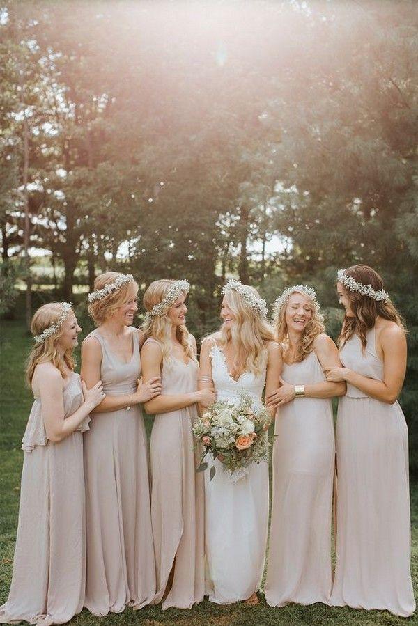 2019 Trending 40 Elegant Neutral Color Wedding Ideas Oh Best Day Ever Neutral Bridesmaid Dresses Wedding Dresses Uk Beautiful Bridesmaid Dresses