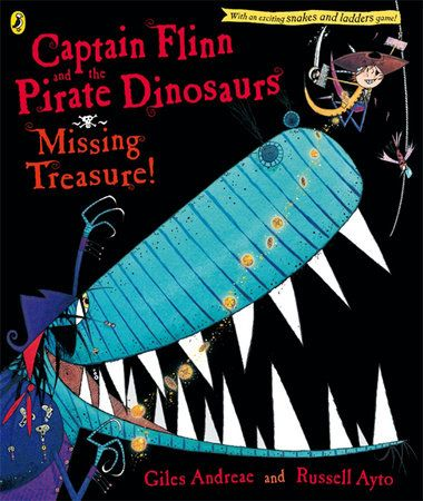 Giles Andreae and Russell Ayto's super-fun Captain Flinn and the Pirate Dinosaurs: Missing Treasure! When Flinn first met the Pirate Dinosaurs, he thought that he had taught them a lesson. But the real lesson is this - never trust a pirate, but never ever trust a pirate dinosaur. This time, Flinn is hot on the trail of some stolen treasure and he knows exactly who's to blame. With the help of his friends and Captain Gurgleguts, fearless Flinn tracks the rotten crew to the Lost Island. So…