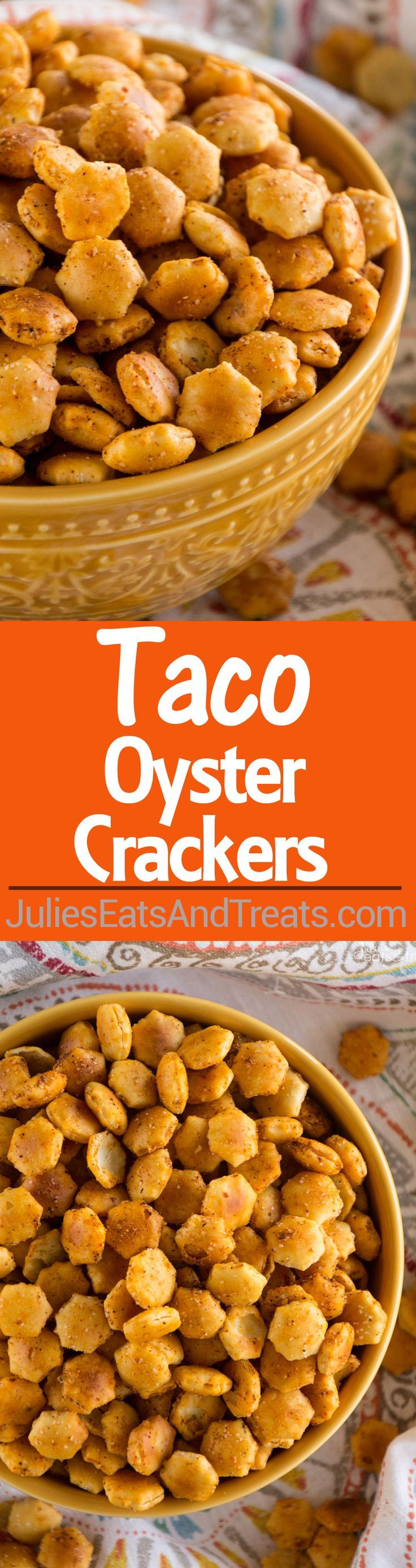 Taco Oyster Crackers Recipe ~ Quick, Easy Snack Mix Recipe that's Got a Kick to it! No One Will Be Able to Stop Munching on These!