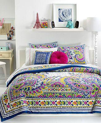 Teen Vogue Bedding, Pret-A-Paisley Comforter Sets - Teen Vogue - Bed & Bath - Macy's