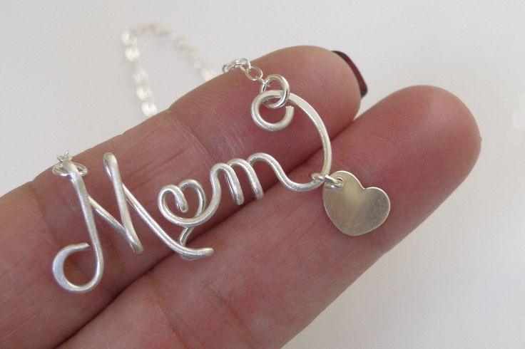 Mother's Necklace, Personalized Necklace, Mom Necklace, Mom Name Necklace, Personalized Name Necklace. $35.50, via Etsy.