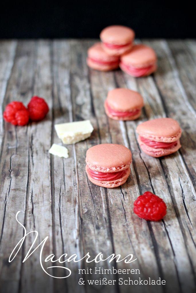 Macarons für Anfänger - mit Himbeeren und weißer Schokolade {Eat. Eat. Love.}