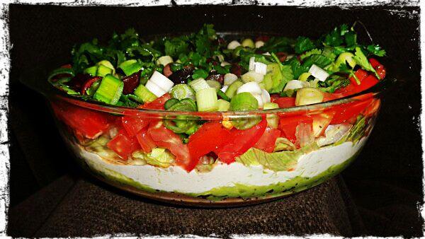 Vegan 6 layer Mexican Salad