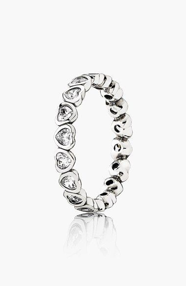 Women's PANDORA 'Forever More' Ring - Sterling Silver/ Clear