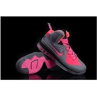 http://www.asneakers4u.com/ Nike Zoom LeBron 9 Women Basketball Shoes Pink/Gray