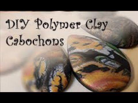 DIY PolyClay Cabochon - YouTube