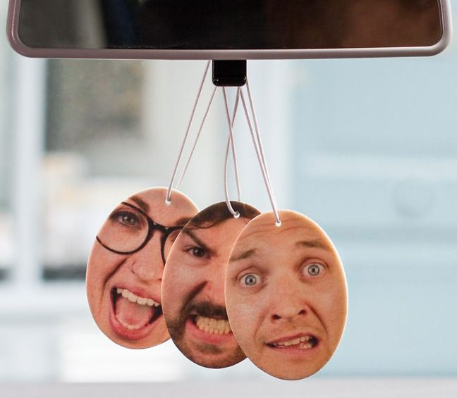 Custom Car Air-Fresheners Using You or Your Friend's Faces