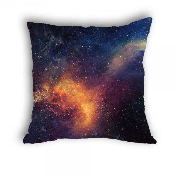Anlye galaxy pillowcase Erupt star cushions cover satin pillowcase silk like soft cheap small pillow cases