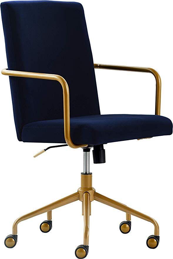 Amazon Com Elle Decor Chr10058c Giselle Home Office Chair Navy