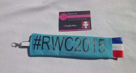 Cadeau rugby, porte clé - dragonne - bijou de sac - mousqueton #rwc2015