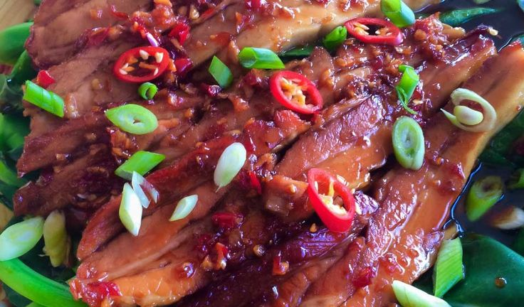 Chilli Caramel Pork | This dish packs a powerful flavour punch. It's delicious with steamed or fried rice and some steamed pak choi | Julie Goodwin recipe