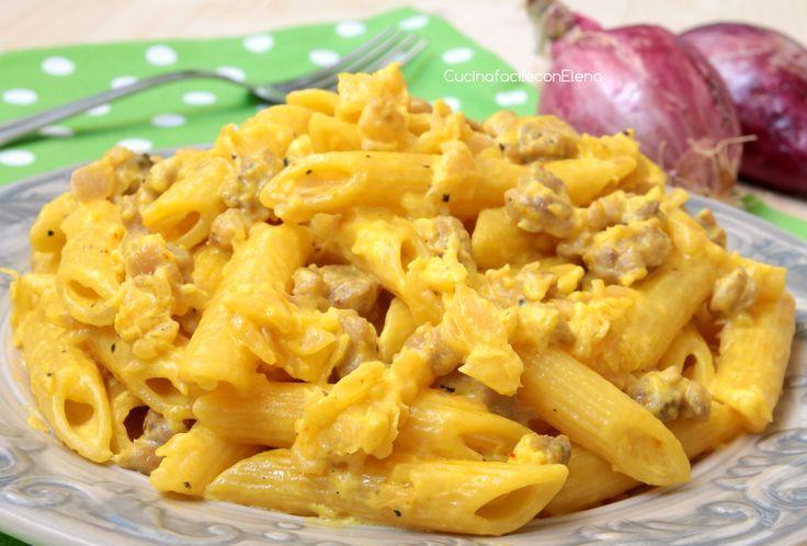 Pasta salsiccia e zafferano cremosa