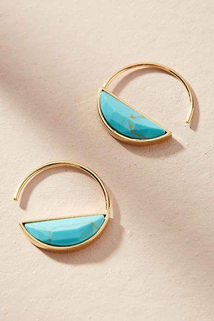 29b736c15 Anthropologie Cadence Hugger Hoop Earrings Anthropologie Us, Statement  Earrings, Big Earrings, Gold Hoop