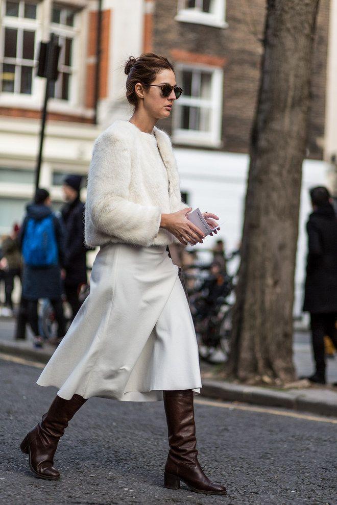 Inspiración blanco, el street style más demandado
