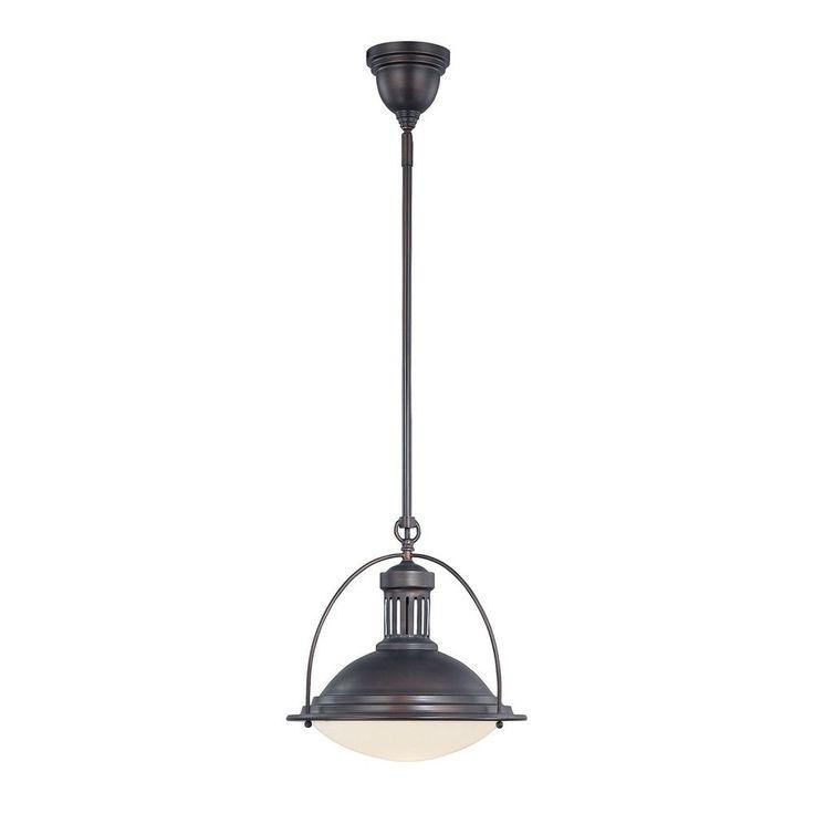 Savoy House English Bronze Pendant Light with Bowl / Dome Shade at Destination Lighting