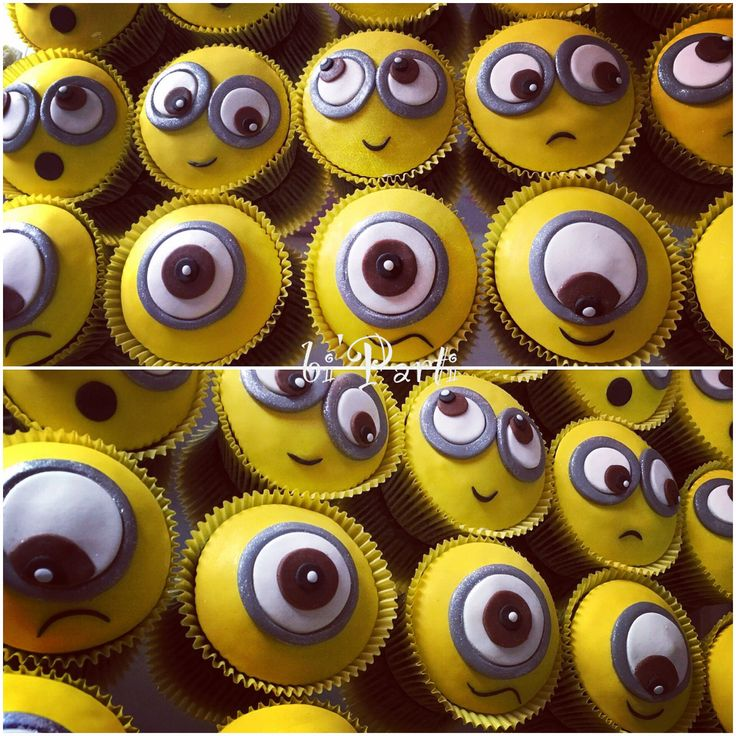 Minion cupcake. Minions. Minion party. Minion theme. Minion party ideas.