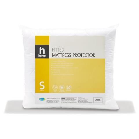 Cotton Cover Fitted Mattress Protector - Single