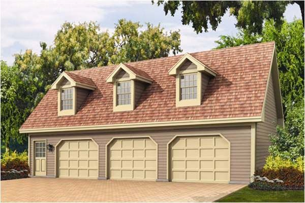 3 car garage with loft three car garage plans three car for Garage with loft apartment