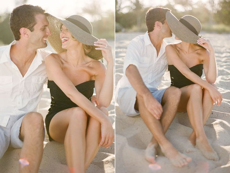 Vintage beach engagement by KT Merry