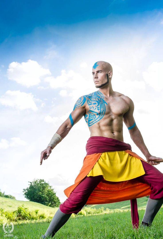 sick Last Airbender Avatar Aang cosplay