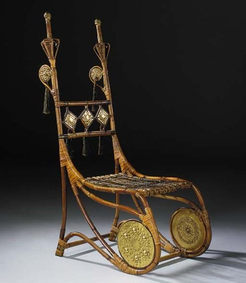 Chair  Carlo Bugatti, 1900  Christie's - Another one I don't actually love, but do think is remarkable.
