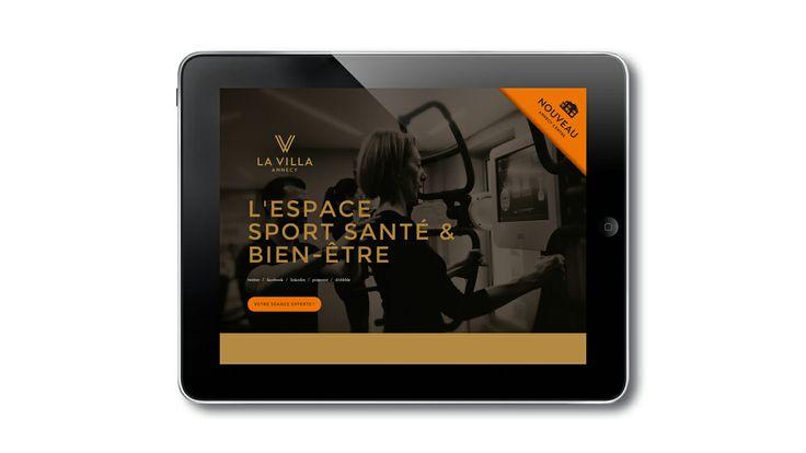 Site promotionnel, Landing page, pour la Villa Annecy salle de sport haut de gamme. #blue1310.com#communication#logo#publicité#site web#agence#annecy