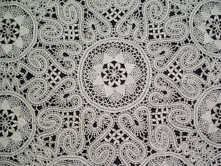 Treasure trove of resources on lace - in the public domain: University of Arizona - Digital Archive of Documents Related to Lace: http://www.cs.arizona.edu/patterns/weaving/lace.html