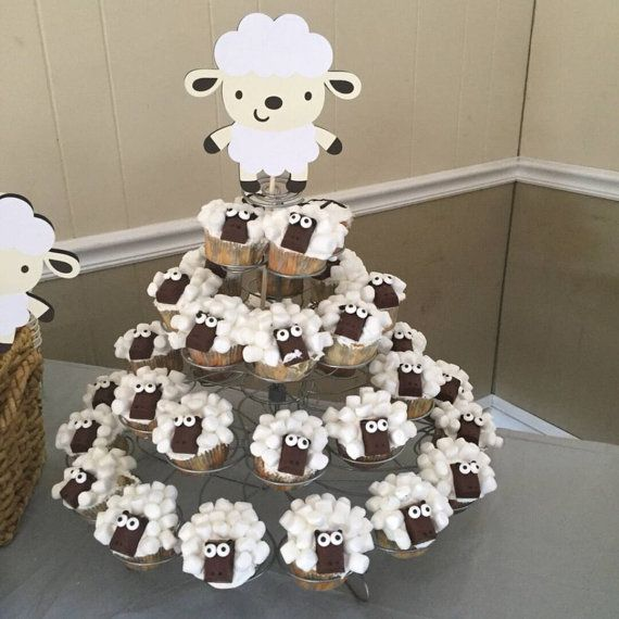 Lamb Baby Shower Decorations Sheep Baby by LittleBitsHomemade