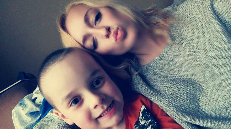 With brother <3