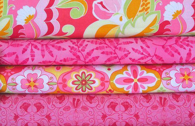 Lotes de telas - Stoffpaket pink Blumen A50 Stoffpaket pink - hecho a mano por HE-RO en DaWanda