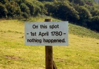 Funny Garden Signs--nothing happened...