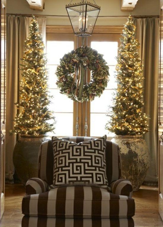 Weihnachtsbaum-Wohnzimmer-Weihnachtsdeko