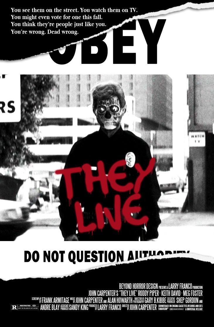 Poster design john foster - They Live John Carpenter