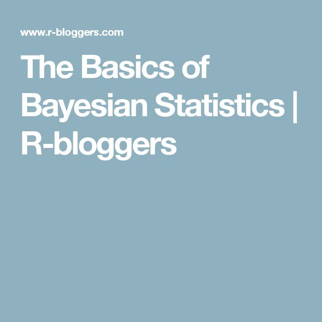 The Basics of Bayesian Statistics | R-bloggers