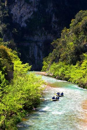Rafting at Evinos river, Aitoloakarnania, West Greece