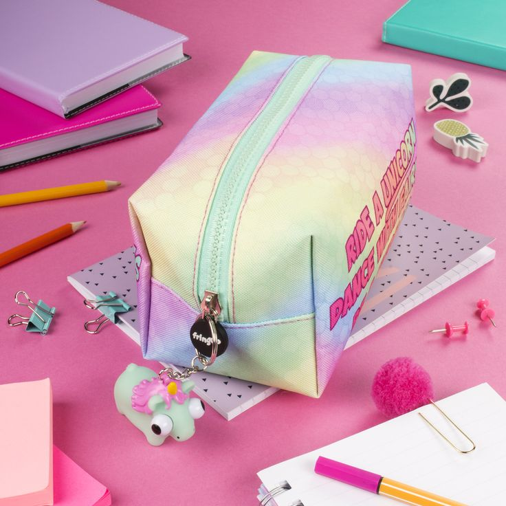 Unicorn pencil case. Cute school accessory, perfect gift for girly girls.