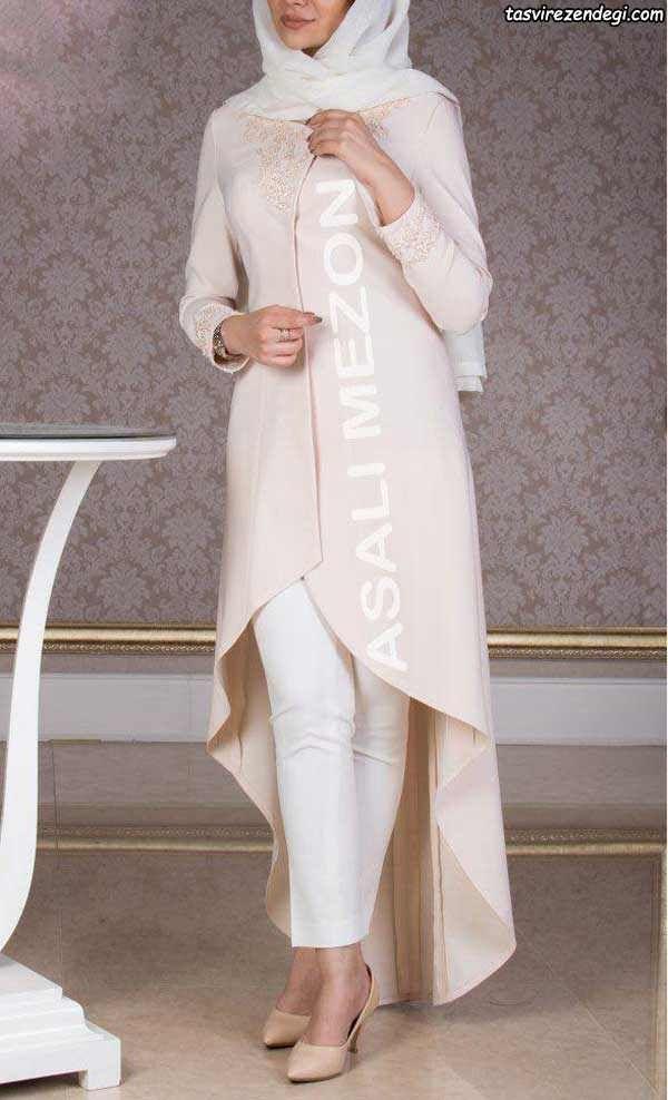 مدل مانتو نامزدی جدید و شیک مانتو عروس مزون عسلی مجله تصویر زندگی Fashion Coat Duster Coat