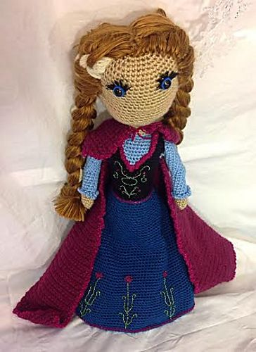 Here is a pattern for a beautiful Disney Frozen Anna doll. This crochet doll is worth every moment spent bringing her to life. She brings a smile to every face that looks upon her.