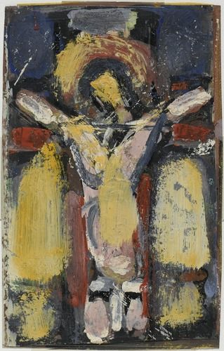 Georges Rouault, Christ en croix (harmonie pourpre et bleue), après 1936 Centre Pompidou Virtuel - Christ en croix (harmonie pourpre et bleue)