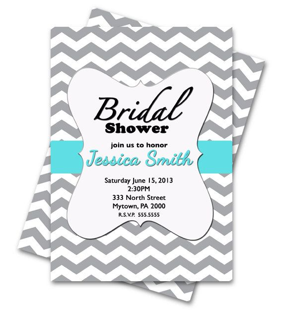 Tiffany Blue and Gray Chevron Bridal by PurpleChicklet on Etsy, $9.50