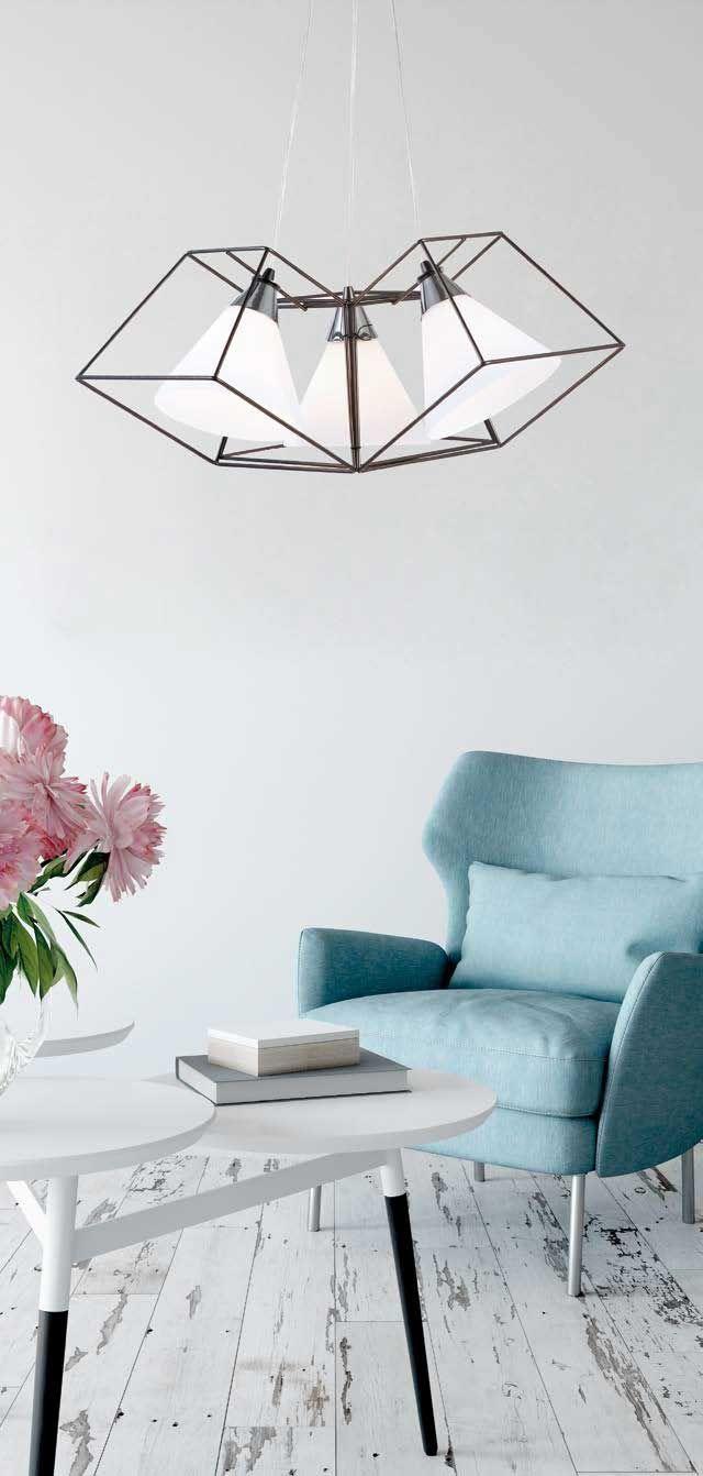 Φωτιστικό κρεμαστό, πολύφωτο (τρίφωτο) σε μοντέρνο στυλ, με ανάρτηση σε ανθρακί μέταλλο και καπέλα με λευκό σατινέ γυαλί. Σειρά Commo της Viokef! Pendant light, modern style, metal anthracite and white satin glass! #homedesignideas #decoration #luminaire #lightingideas #moderndesign #modernhome