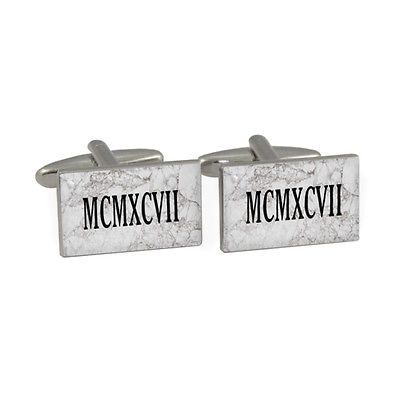 1997 roman numerals #cufflinks gift #boxed #birth year date latin mcmxcvii grey n,  View more on the LINK: 	http://www.zeppy.io/product/gb/2/251524668872/