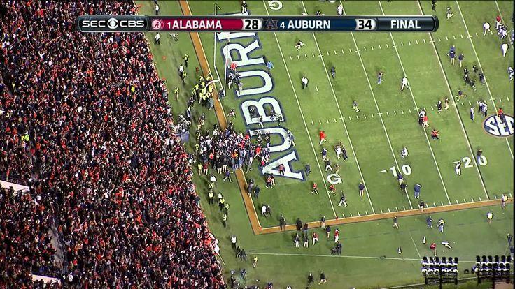 2013 Iron Bowl ending HIGH DEFINITION Auburn beats Alabama